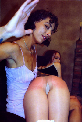 free spanking picture girl gets spanked over her pantyhose